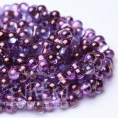 Purple Lumi Farfalle Seed Bead 4x2 mm | Eureka Crystal Beads Radiant Orchid Jewelry Beading Swarovski Crystal Pendants DIY Jewelry Making Supplies Components