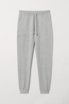 Skinny-fit joggers in sweatshirt fabric. Elasticated drawstring waistband, side pockets, and one back pocket. Slightly dropped gusset and tapered legs with Cute Sweatpants, Sweatpants Outfit, Jogger Sweatpants, Lazy Outfits, College Outfits, Summer Outfits, Teenager Outfits, Casual Outfits, Middle School Outfits
