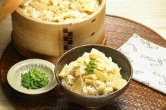 筍とホタテの炊き込みご飯