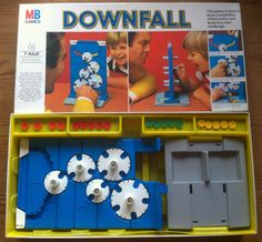 Vintage Board Game - Downfall by MB 1980s Classic NICE !