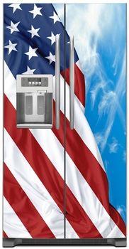 cc1f84bb0e1e1 Big USA Flag Refrigerator Magnet Cover CUSTOM FRIG FRONTS Appliance Covers