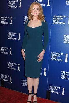 Nicole Kidman tampoco quiso perderse el almuerzo de la Asociación de la Prensa Extranjera.