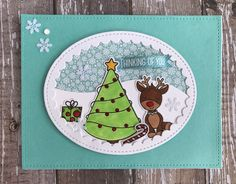 I had the best time creating with this Merry and Bright set fro Simon Says Stamp #sssck