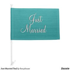 Just Married Teal Ca