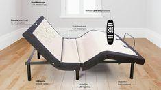 GhostBed Adjustable Base Mattress Sets, Best Mattress, Mattress Covers, Foam Mattress, Adjustable Bed Frame, Adjustable Base, Bed Base, Under Bed, Cool Beds
