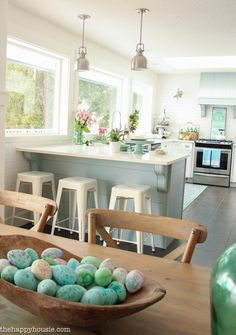 Coastal Cottage Style Spring Kitchen Tour | The Happy Housie
