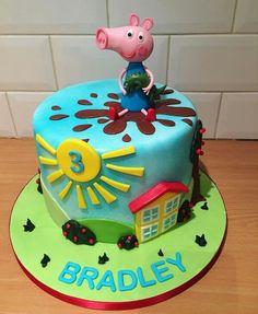 Y Pig Cakes, Peppa Pig, Birthday Cake, Desserts, Food, Tailgate Desserts, Deserts, Birthday Cakes, Essen