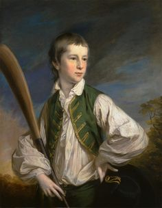 Francis Cotes, 1726-1770, British, Charles Collyer as a Boy, with a Cricket Bat, 1766, Oil on canvas, Yale Center for British Art, Paul Mellon Collection