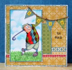 Gordon Golfer Ai People from Art Impressions.  Great golf sports, themed masculine card.