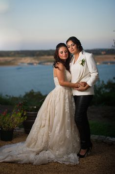 Patricia and Julissa were #married under the #Texas sun! Photos by AJH Weddings | http://ajhweddings.com. Read more on EquallyWed.com! #lesbian #LGBT #wedding