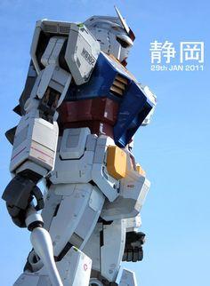 concept robots: Shizuoka Gundam RX-78-2 sculpture