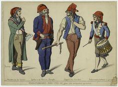 Revolutionnaires, Paris 1793-94. Creator: Jacquemin, Raphaël, 1821-1881? -- Artist Published Date: 1863-1869 Depicted Date: 1793-1794 Item Physical Description: 1 print : col. ; 29 x 39 cm. (11 1/4 x 15 1/4 in.)