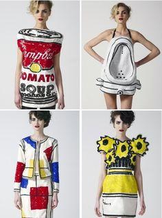 Resultado de imagem para e Lichtenstein, Warhol E A MODA