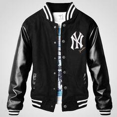 NY Yankee thicken Mens Letterman jacket Vest Jacket 1c4ab95a5b56