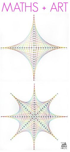 Maths + Art: Parabolic Curve printables you can try at home