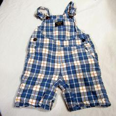 Oshkosh Overalls Size 24 Months Toddler Boy Clothing Plaid Shorts Vestbak #OshKoshBgosh #Everyday