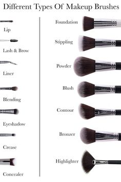 Types of Makeup BrushesYou can find Makeup brushes and more on our website.Different Types of Makeup BrushesDifferent Types of Makeup BrushesYou can find Makeup brushes and more on our website.Different Types of Makeup Brushes Makeup tips for beginners Makeup Brush Uses, Best Makeup Brushes, Best Makeup Products, Beauty Brushes, Eyeshadow Brushes, Make Up Products, Best Brushes For Contouring, Contour Makeup Products, How To Eyeshadow