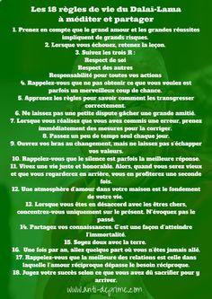 18 règles de vie du Dalaï Lama