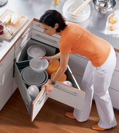 Practical Corner Drawer Design For White Kitchen Cabinet Utilizing Left Space Corner Drawer Kitchen Cabinet
