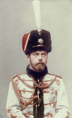 Tsar Nicholas II in 1895 - handsome, gentle but also indecisive and wholly unsuited to his future role