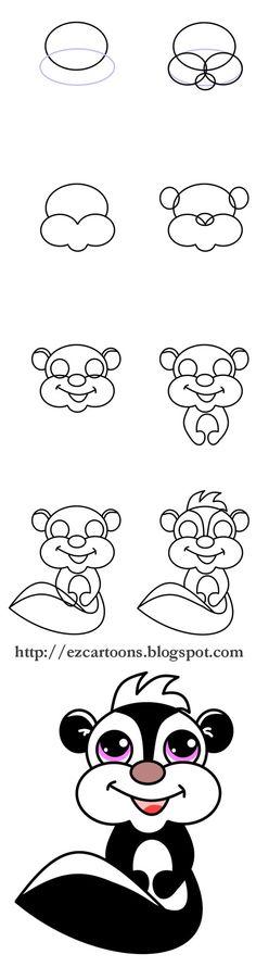 Design to draw - Draw Pattern - skunk... Draw Pattern & inspiration  Preview – Pattern    Description  skunk  – Source –