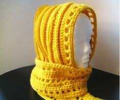 Crochet Scarf Patterns | Crochet Dreamz: Aesthetic Hooded Scarf (Free Crochet Pattern)