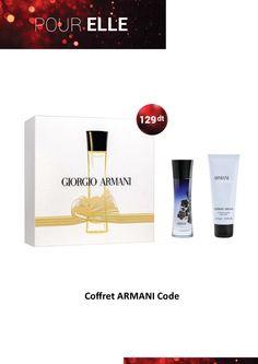 Idée Cadeau - Coffret ARMANI Code Ce coffret contient :  -Une Eau de Parfum 30ml  -Un Lait pour le Corps 75ml   #Fatales #idéecadeau #Armani #Code #GiftSet