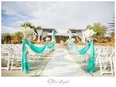 Tiffany Blue wedding | Outdoor Ceremony Decor | The Vineyards Simi Valley, Ca Wedding Photography | By: Chelsea Elizabeth Photography | http://chelseaelizabeth.com/ #TiffanyBlueWeddings