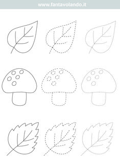 Shape Worksheets For Preschool, Shapes Worksheets, Numbers Preschool, Sensory Activities Toddlers, Autumn Activities, Autumn Crafts, Autumn Art, Cute Kids Crafts, Fall Art Projects