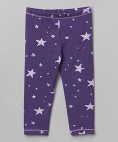 Love this Purple Enchanted Stars Leggings - Toddler & Girls on #zulily! #zulilyfinds