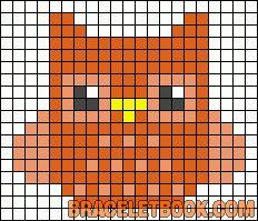 Cute owl perler bead pattern