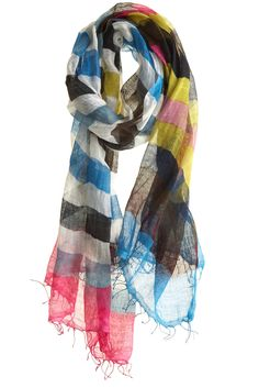 Morrocco Scarf $199.00  Lots of color without being tacky #stripes #scarves #accessories #fashion #womensfashion