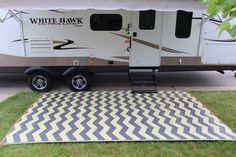 On-line store for unique, colorful RV rugs and mats.