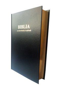 Biblie cu concordanta si explicatii, marime mare, coperta cartonata, aurita, cuv. lui Isus cu rosu [CO 77 CT]