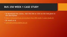 week 1 case