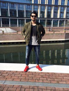 Outfit der Woche! Lederblouson: Drykorn – T-Shirt & Jeans: Nudie #fashion #ootw