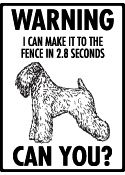 Soft Coated Wheaten Terrier Fence Sign he he . . . Love it!