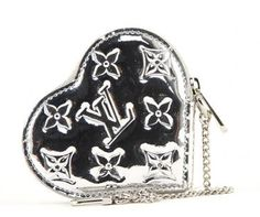 Louis Vuitton Monogram Miroir Silver Mirror Heart Coin Purse .. malleries.com #bags #fashion