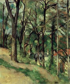 Paul Cézanne (French, Orchard, Côte Saint-Denis, at Pontoise, c… Landscape Art, Landscape Paintings, Cezanne Art, Paul Cezanne Paintings, Catalogue Raisonne, Guache, Paul Gauguin, Museum Of Fine Arts, Claude Monet