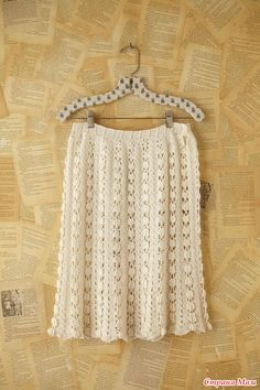 Free People Crochet Skirt... pattern is good for a scarf or a shawl