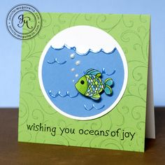 full instructions at http://www.rangerink.com/slideshow/june11-project_LiquidPearlsOceansOfJoyCard.htm