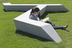 Public bench / design / concrete MILENIO ® by EXP architectes Escofet