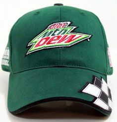 diet mountain dew all racing  hats | ... Earnhardt Jr Diet Mtn Dew Checkered Team Cap / Hat by CFS CF1294988