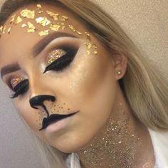 halloween makeup cat glam