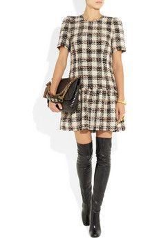 Dolce & Gabbana- Checked boucle-tweed dress
