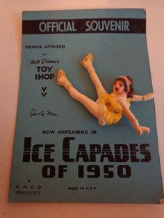 1950s ICE CAPADES WALT DISNEY TOY SHOP OFFICIAL SOUVENIR PIN