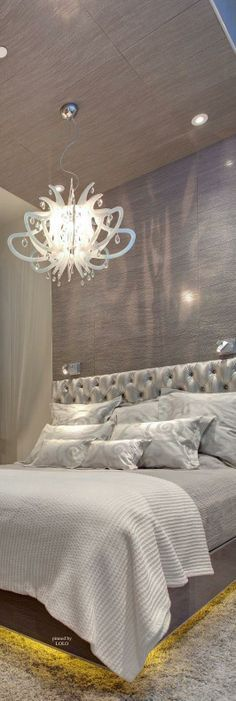 Amazing Bedroom Lighting: Mark Tracy, Amazing Apartment Ideas Like The Wallpaper Up Bedroom Sets, Home Bedroom, Bedroom Decor, Bedroom Lighting, Penthouse For Sale, Funky Home Decor, Home Fashion, Bedroom Styles, Luxurious Bedrooms