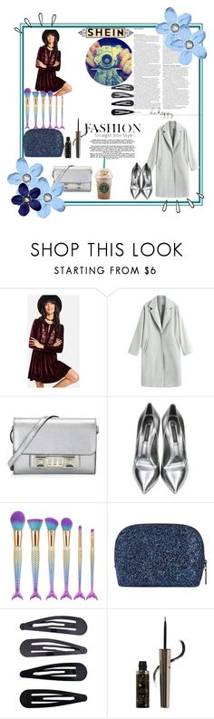 """""""Embroidered-Velvet-Dress"""" by yasemin-lehman ❤ liked on Polyvore featuring ASOS, Proenza Schouler, Casadei, Old Navy, Bobbi Brown Cosmetics, Accessorize and 100% Pure"""