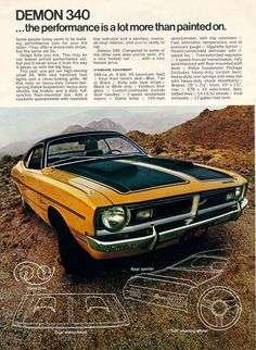 1971 Dodge Demon 340 (from Scat Pack brochure)
