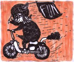 Edward Reza Prima ''fun'' drawing pen acrylic on paper @2014